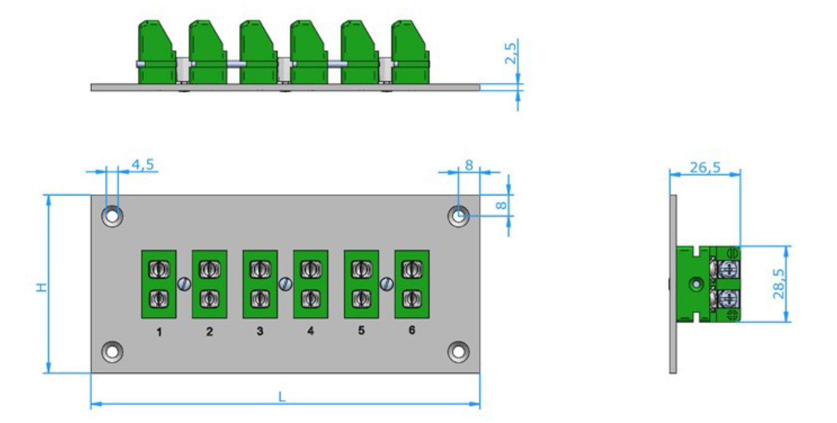 Standard & Mini Size: Panels Thermocouple Components Corp. #1871B3